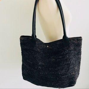 Helen Kaminski Woven Straw Natural Bag Purse